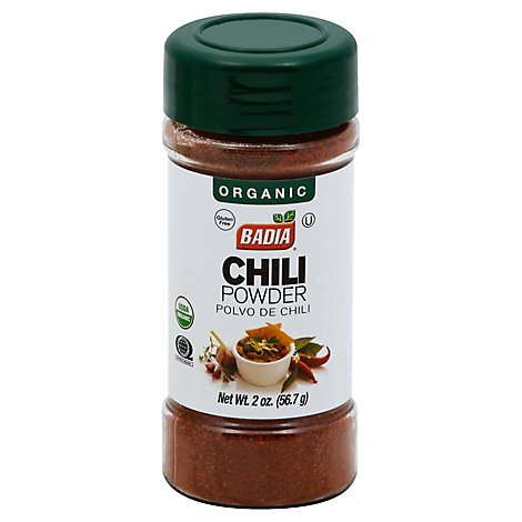 Badia Chili Powder Org - 2.5 OZ
