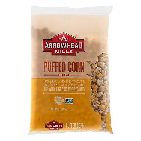 Arrowhead Mills Cereal Puff Corn Ns - 6 OZ