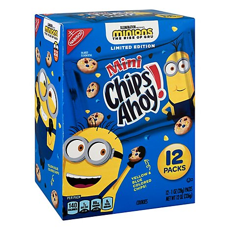 Chips Ahoy Minions Mini Cookies - 12-1 OZ
