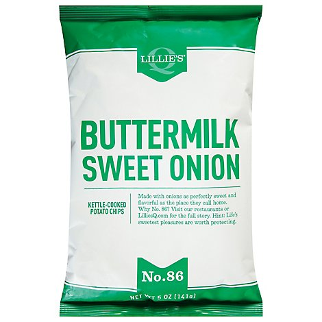 Lillies Q Kettle Chips Buttermilk Sweet Onion - 5 Oz