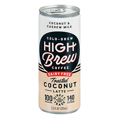 High Brew Coffee Toasted Coconut Latte - 8 OZ