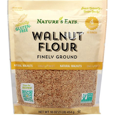 Natures Eats Flour Walnut - 16 OZ