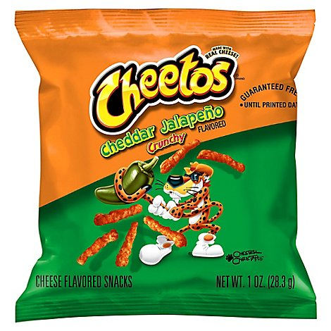 Cheetos Cheese Flavored Snacks Jalapeno & Cheddar - 1 OZ