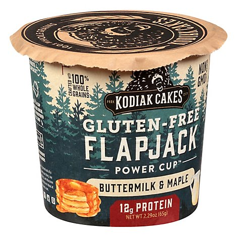 Kodiak Cakes Gluten Free Buttermilk & Maple Flapjack In A Cup - 2.16 OZ