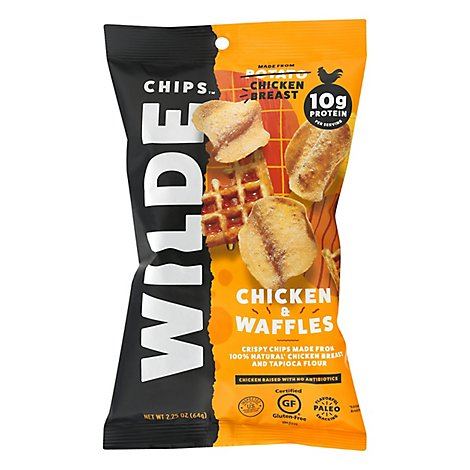 Wilde Snacks Chips Chicken Waffles - 2.25 OZ