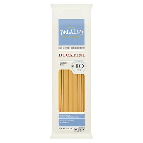 Delallo Pasta Bag Perciatelli - 16 OZ