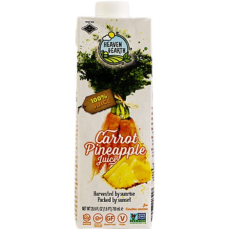 H&e 100% Carrot & Pineapple Juice - 25.6OZ