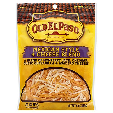 Old El Paso Mexican 4 Cheese Shred - 8 OZ