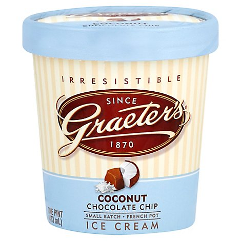 Graeters Coconut Chocolate Chip - 16 OZ