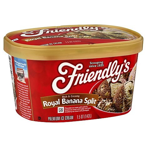 Friendlys Royal Banana Split Ice Cream - 1.5 QT