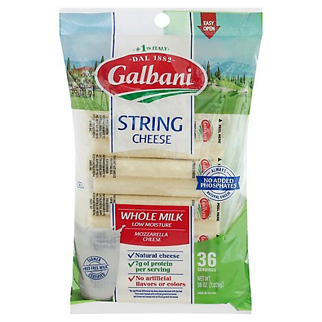 Galbani Whole Milk String Cheese - 36 OZ