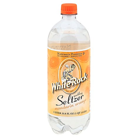 White Rock Seltzer Mandarin Orange - 1 LT
