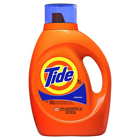 Tide Laundry Detergent Liquid Original 64 Loads - 92 Fl. Oz.