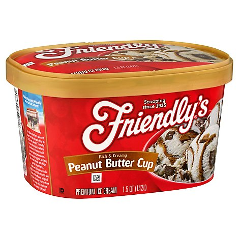 Friendlys Peanut Butter Cup Rich And Creamy Ice Cream - 1.5 QT
