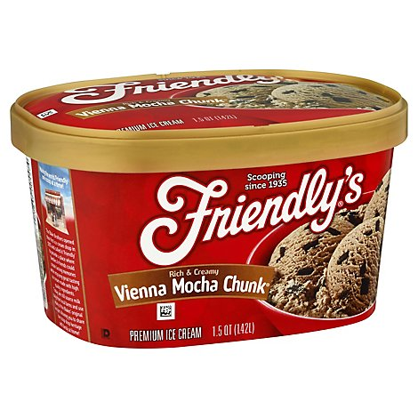 Friendlys Ice Cream Premium Vienna Mocha Chunk - 1.5 Quart