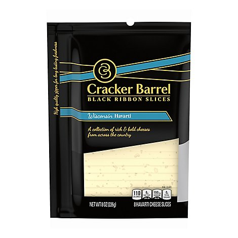Cracker Barrel Natural Cheese-slices Wisconsin Havarti - 8 OZ