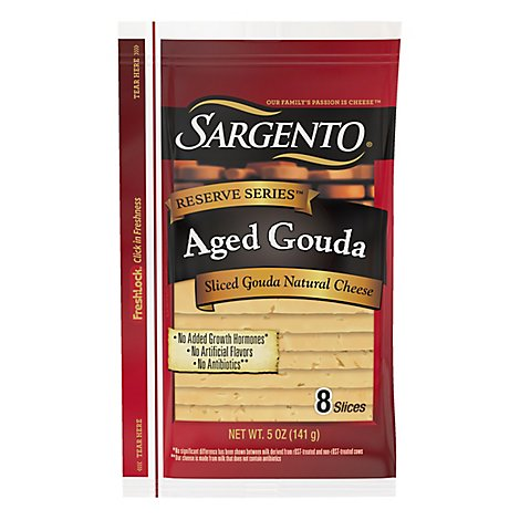 Sargento Aged Gouda Slices - 5 OZ