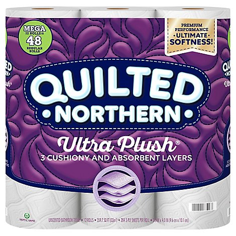 Quilted Northern Ultra Plush Toilet Paper 12 Mega Rolls - 12 RL
