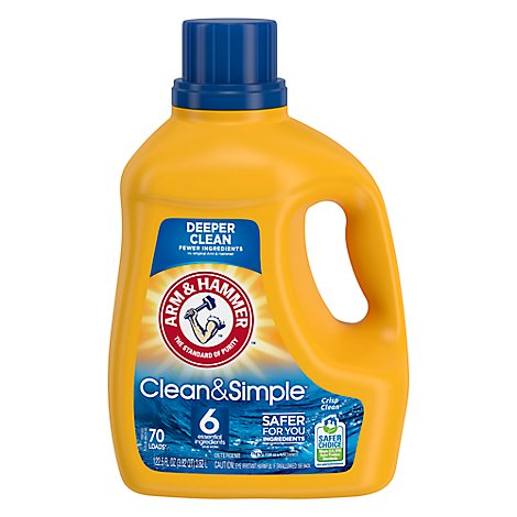 Arm & Hammer Clean & Simple Liquid Laundry Detergent - 122.5 FZ