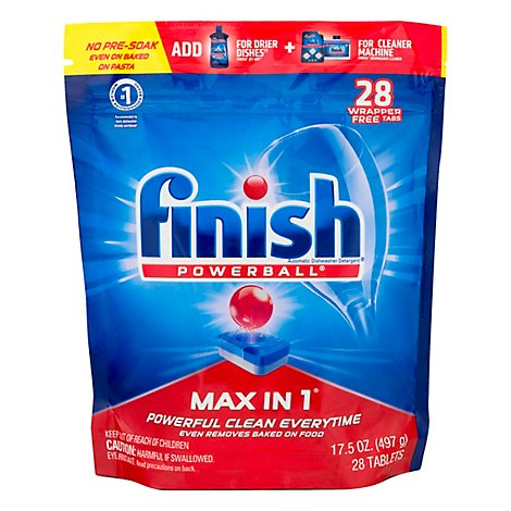 Finish Powerball Max In 1 Auto Dishwasher - 28 CT
