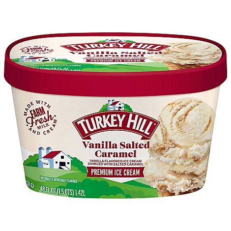 Turkey Hill Premium Vanilla Salted Caramel Ice Cream - 48 FZ