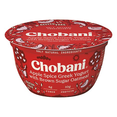 Chobani Greek Plus Oats Apple Cinnamon - 5.3 OZ