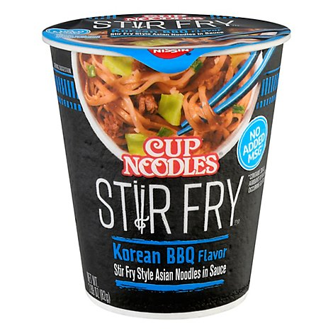 Nissin Cup Noodles Stir Fry Korean Bbq Unit - 2.89 OZ