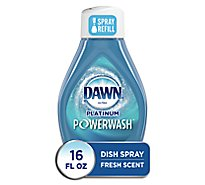 Dawn Powerwash Dishwashing Spray Fresh Scent Refill - 16 FZ