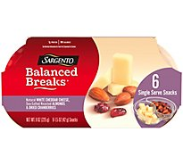 Sargento Balanced Breaks Natural White Cheddar With Almonds & Cranberries - 9 OZ