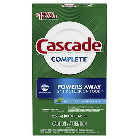 Cascase Complete Dishwasher Detergent Powder Fresh Scent - 90 Oz