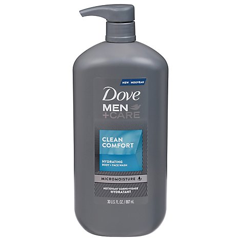 Dove Men Care Clean Comfort Body Wash - 30 FZ