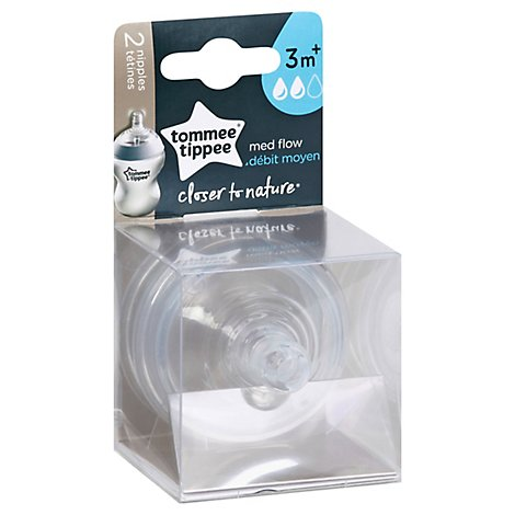 Tommee Tippee Closer To Nature Nipple Medium - 2 CT