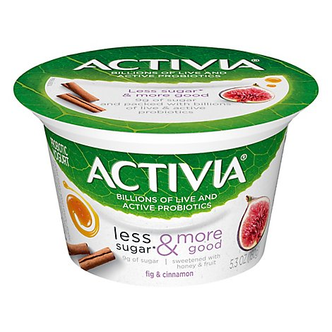 Activia Pro Grk Ygrt Less Sugar Fig Cinn - 5.3 OZ