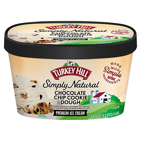 Turkey Hill All Natural Chocolate Chip Cookie Dough - 48 FZ