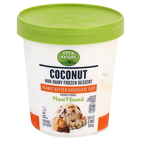 Open Nature Coconut Dessert Peanut Butter Chocolate Chip - 1 PT