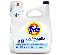 Tide Free & Gentle Liquid Laundry Detergent 96 loads - 138 Fl. Oz.