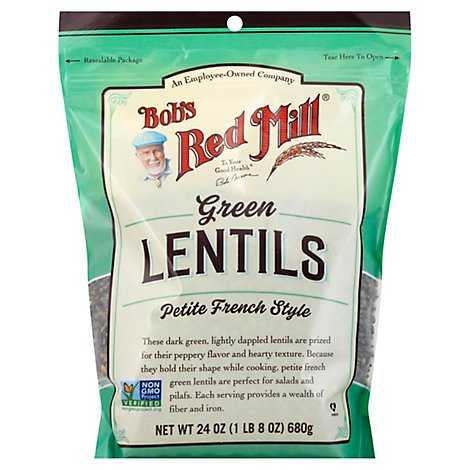 Bobs Red Mill Bean Lentil Green - 24 OZ