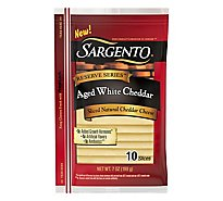 Sargento Aged White Cheddar Slices - 7 OZ