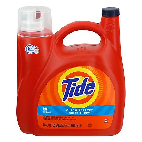Tide Laundry Detergent Liquid Clean Breeze - 138 Fl. Oz.