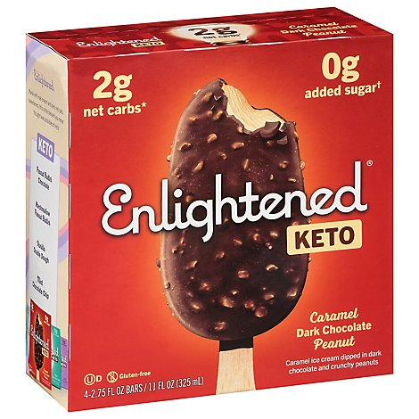 Enlightened Keto Ice Cream Dark Chocolate Peanut - 4-2.65 FZ