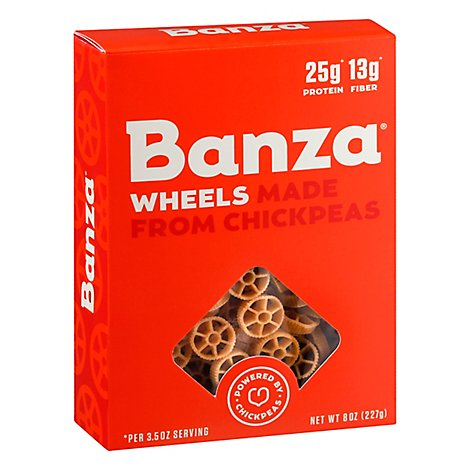 Banza Chickpea Wheels High Protein High Fiber Lower Carb Grain Free Low - 8 OZ