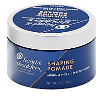 Head & Shoulders Shaping Pomade Matte Finish Medium Hold - 3 Oz