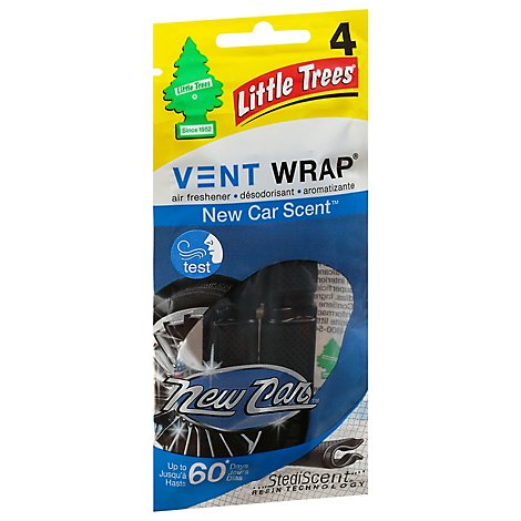 Little Tree New Car Vent Wrap - 4 CT