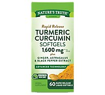 Natures Truth Turmeric 1600mg Complex Softgels - 60 CT