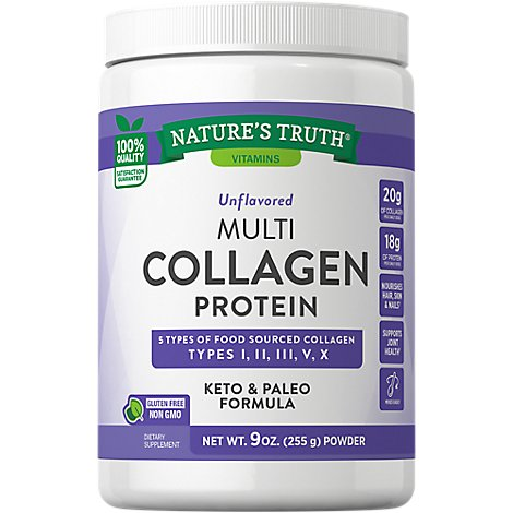 Natures Truth Multi Collagen Protein Complex Powder - 9 OZ