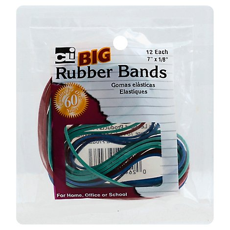 Rubber Bands Big Size Assorted Colors - EA