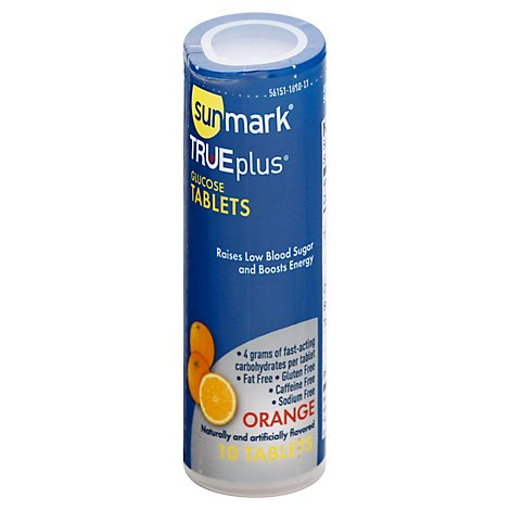 Sunmark True Plus Orange Glucose Tacs 10 Ct - 10 CT