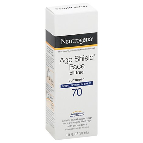 Neutrogena Age Shield Face Sunscreen Spf70 Lotion - 3 FZ