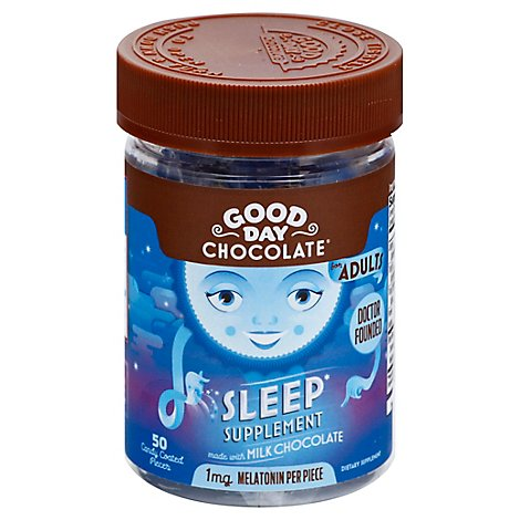 Good Day Chocolate Adult Sleep Supplement Chocolate - 50 CT