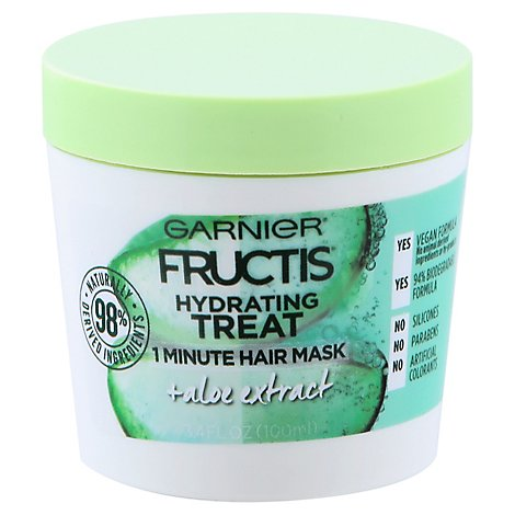 Garnier Hydrating Treat 1 Minute Hair Mask Aloe - 3.4 FZ